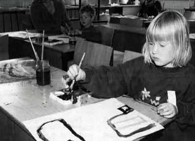 1996 - Koncentration ved tegnebordet (Foto: Jens Peder Meyer)