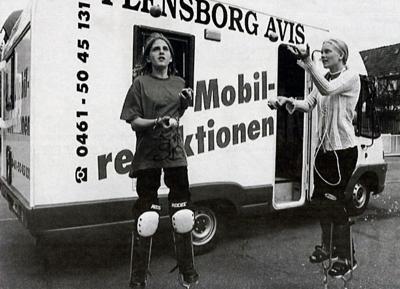 1998 - Foran mobil-redaktionen (Foto: Jens Peder Meyer)